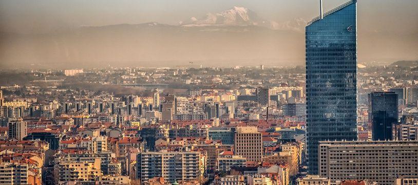 Lyon et son nuage de pollution. (archives)