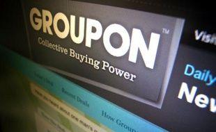La page d'accueil de Groupon.