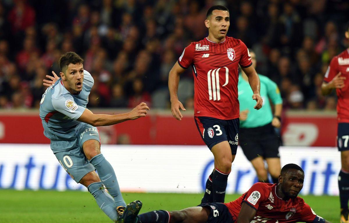 Stevan Jovetic a offert le premier but aux Monégasques à Lille. – AFP