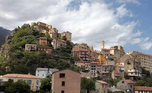 La ville de Corte, en Corse.