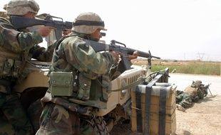 Des troupes américaines en Irak, illustration.