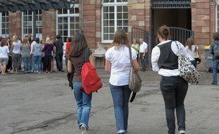 Rentrée scolaire au lycée Fustel de Coulanges le 2 septembre 2009.