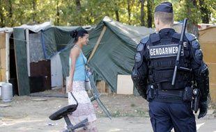 Evacuation d'un camp de Roms à Saint-Fons (Rhône), en France, le 6 septembre 2013.