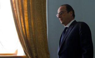 Le président François Hollande, le 6 décembre 2014 à Almaty, lors d'une visite au Kazakhstan