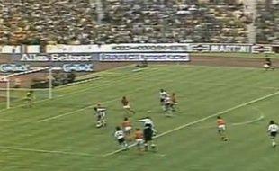 Capture d'écran de la finale du Mondial 74 entre l'Allemagne et les Pays-Bas