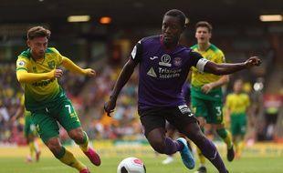 Max-Alain Gradel, le capitaine du TFC, lors du match amical chez les Anglais de Norwich, le 3 août 2019.