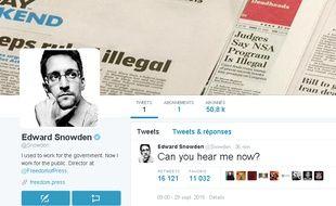 Le compte Twitter de Edward Snowden.