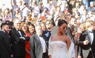 La chanteuse Rihanna au Festival de Cannes