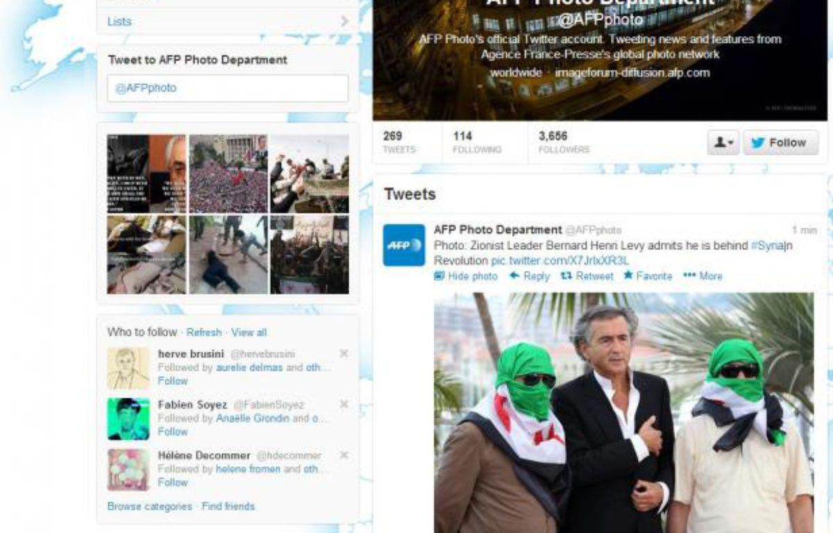 Le compte Twitter de l'AFP Photo a été piraté le 26 février 2013. – 20 MINUTES