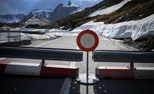 A la frontière entre la Suisse et l'Italie, le 2 juin.