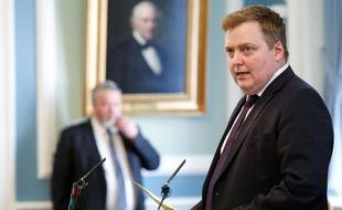 Le Premier ministre islandais Sigmundur David Gunnlaugsson avant sa démission le 4 avril 2016.