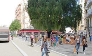 Seuls les bus d'une ligne en site propre et les vélos pourront rouler sur la partie sud du boulevard Gambetta