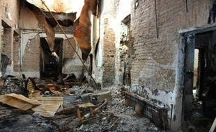 L'hôpital de MSF photographié le 10 novembre 2015 après sa destruction lors d'un bombardement à Kunduz, en Afghanistan
