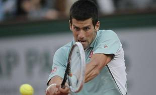 Le Serbe Novak Djokovic, lors d'un match contre Grigor Dimitrov, le 1er juin 2013 à Roland-Garros.