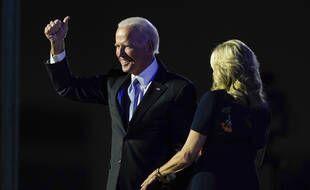 Le président-élu des Etats-Unis, Joe Biden, a revendiqué une «victoire pour le peuple» à Wilmington, dans le Delaware, le 7 novembre 2020.