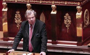 Alain Tourret, le député sortant du Calvados à l'Assemblée Nationale le 12 février 2013.