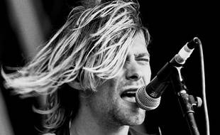 Kurt Cobain le 23 août 1991 au Reading Festival