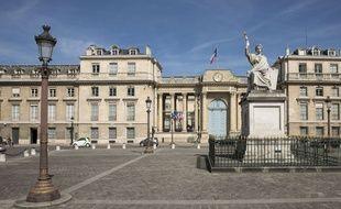 La place du Palais Bourbon à Paris, le 30 mars 2017.