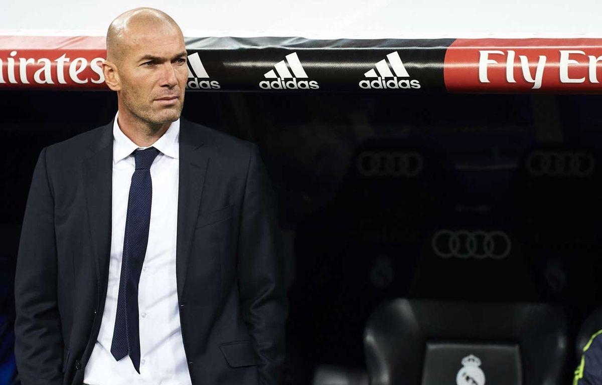 Zinedine Zidane lors de son premier match comme entraîneur du Real Madrid, le 9 janvier 2016 – Shutterstock/SIPA