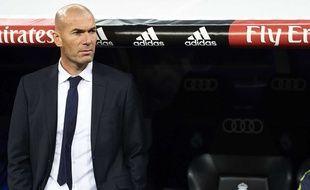 Zinedine Zidane lors de son premier match comme entraîneur du Real Madrid, le 9 janvier 2016