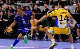 Le handballeur français Daniel Narcisse lors du match entre la France et le Brésil le mardi 15 janvier 2013.