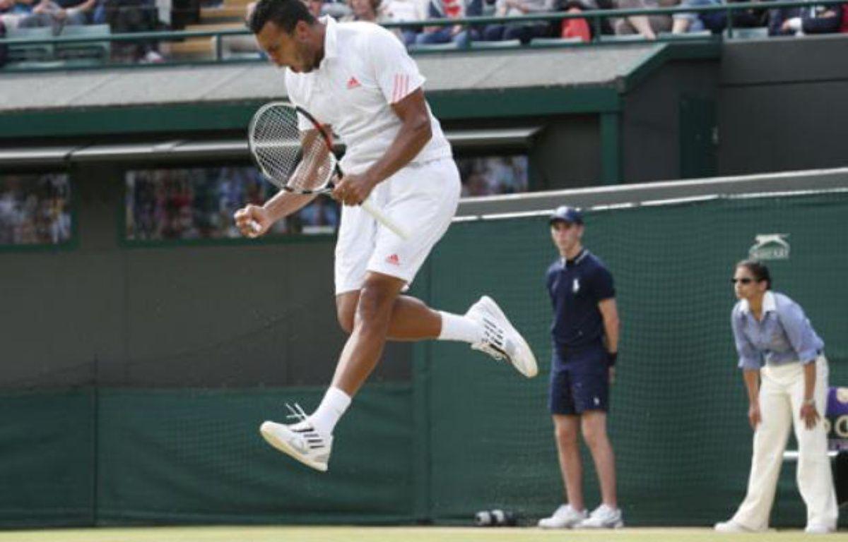 Jo-Wilfried Tsonga, le 4 juillet 2012 à Wimbledon. – REUTERS