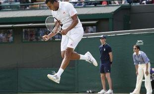 Jo-Wilfried Tsonga, le 4 juillet 2012 à Wimbledon.