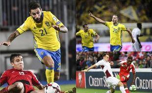 Les Suédois Jimmy Durmaz et Ola Toivonen, ainsi que le Suisse François Moubandje, devrait composter leur billet pour la Coupe du monde en Russie.
