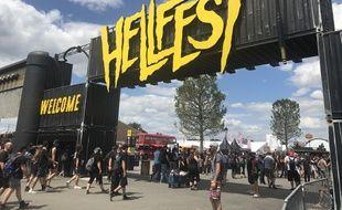 L'entrée du Hellfest, le 21 juin 2019