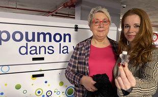 Lia van de Vorle et Esmée van de Vorle, respectivement CEO et Managing director d'ENS Clean Air, ont mis au point le  «poumon dans la ville »