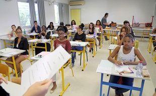Les élèves avant le début de l'épreuve.