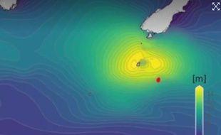 La vague a été enregistrée mardi dans l'océan Austral, réputé pour la violence de ses tempêtes, près de Campbell Island, à environ 700 kilomètres au sud de la Nouvelle-Zélande.