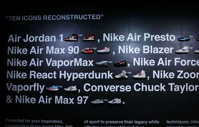 Les 10 modèles Nike revisités par Virgil Abloh.