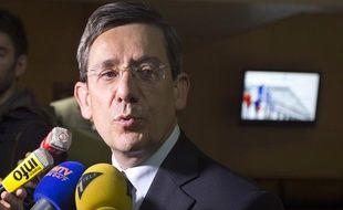 Charles de Courson (UDI) après l'audition de JérômeCahuzac par la mission d'enquête parlementaire, le 26juin 2013.