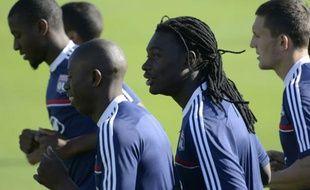 Bafétimbi Gomis de retour à l'entraînement avec Lyon, le 4 septembre 2013