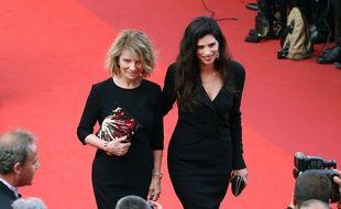 Nicole Garcia et la réalisatrice Maïwenn à l'anniversaire du Festival de Cannes en mai 2017.