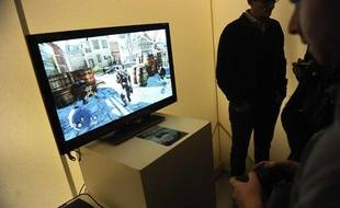 Soiree de lancement du nouveau jeux video Assassin's Creed 3 au Pavillon Wagram à Paris, le 26 octobre 2012