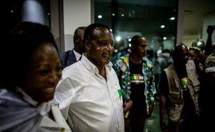 Denis Sassou Nguesso et sa femme Antoinette le 24 mars 2016 à Brazzaville