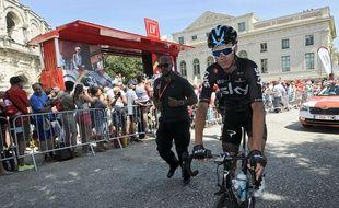 Chris Froome lors du Tour d'Espagne, le 20 août 2017.