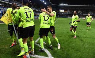 La joie des Lillois après leur victoire à Montpellier.
