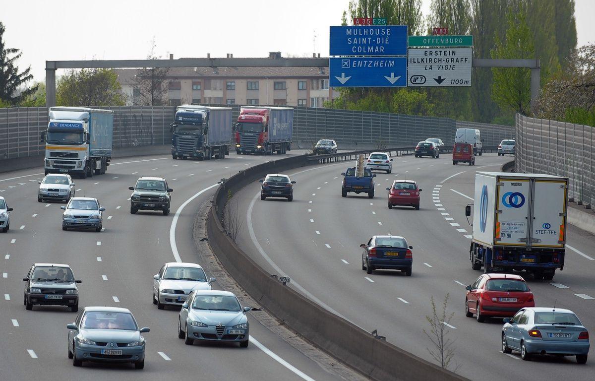 L'autoroute est limitée à 70 km/h en raison du pic de pollution aux particules persistant. – G .VARELA / 20 MINUTES