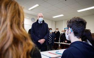Jean-Michel Blanquer en visite dans un lycée de Châteauroux en janvier 2021 (illustration)