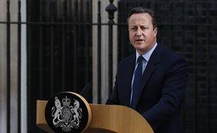 Le Premier ministre David Cameron après l'annonce des résultats du référendum sur le Brexit le 24 juin 2016