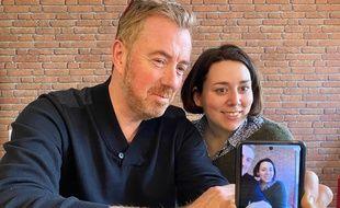 Les journalistes Christophe Séfrin et Anne-Laetitia Béraud à 20 Minutes, le 25 février 2020