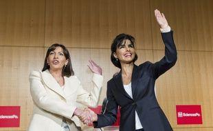 Anne Hidalgo et Rachida Dati lors d'un débat en 2013 à Sciences Po