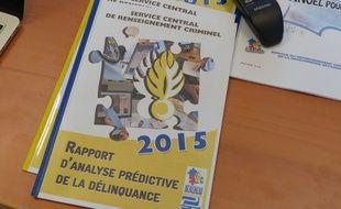 Le rapport 2015 d'analyse prédictive de la délinquance réalisé au sein du pôle judiciaire de la gendarmerie nationale.