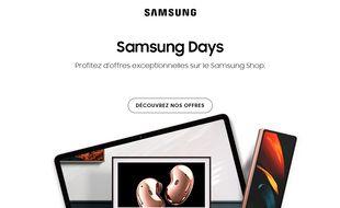 Lors du Samsung Days du 20 au 26 novembre 2020, profitez jusqu'à 1 500 euros de remise immédiate sur des produits de la marque.