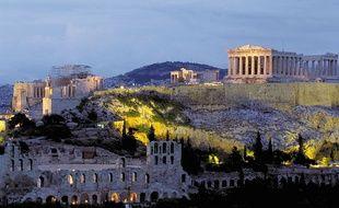 La célèbre Acropole d'Athènes (Grèce).