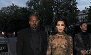 Le rappeur Kanye West et Kim Kardashian à Londres