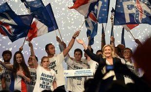 La présidente du Front national Marine Le Pen lors de l'Université d'été du Front national à Marseille, le 6 septembre 2015